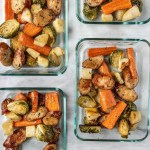 Honey Mustard Sausage and Veggies in a Meal Prep container