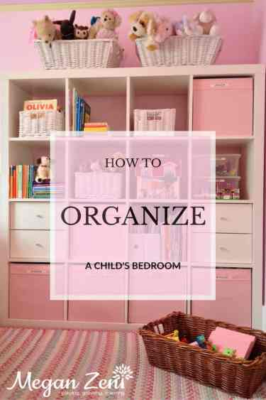 organizing a child's bedroom