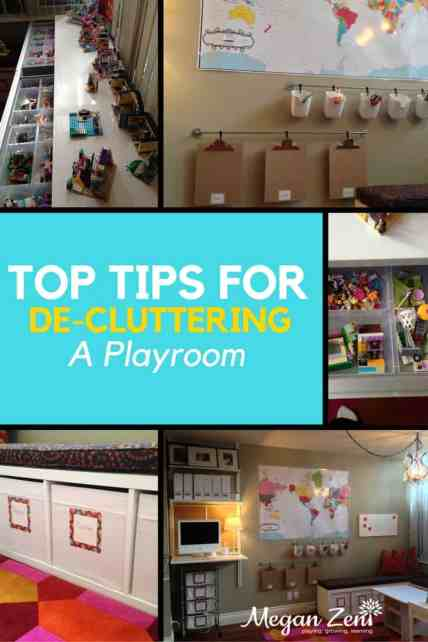 Top Tips to de-clutter a playroom