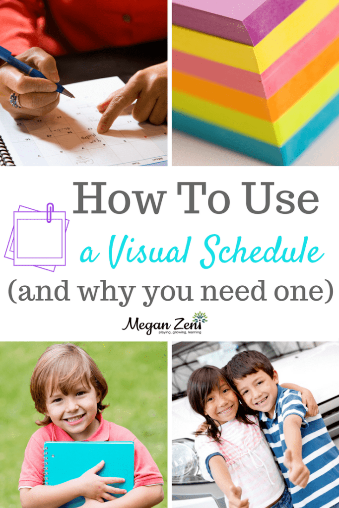 How to use a visual schedule
