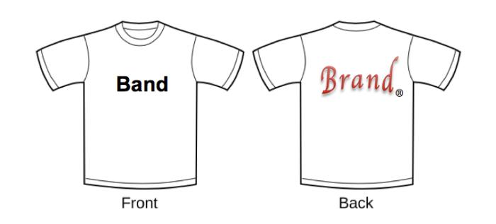 Brand Band t-shirt