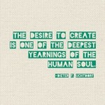 The desire to create #motivaton #inspiration #amwriting {Megaphone Society}
