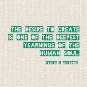 The desire to create #motivaton #inspiration #amwriting {Megaphone Society}