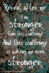 I am stronger than this challenge {Megaphone Society} #amwriting #inspiration