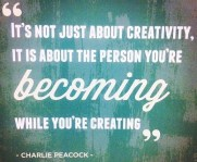 Becoming while creating #motivaton #inspiration #amwriting {Megaphone Society}
