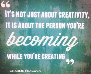 Becoming while creating #motivaton #inspiration #amwriting {Megaphone Society}