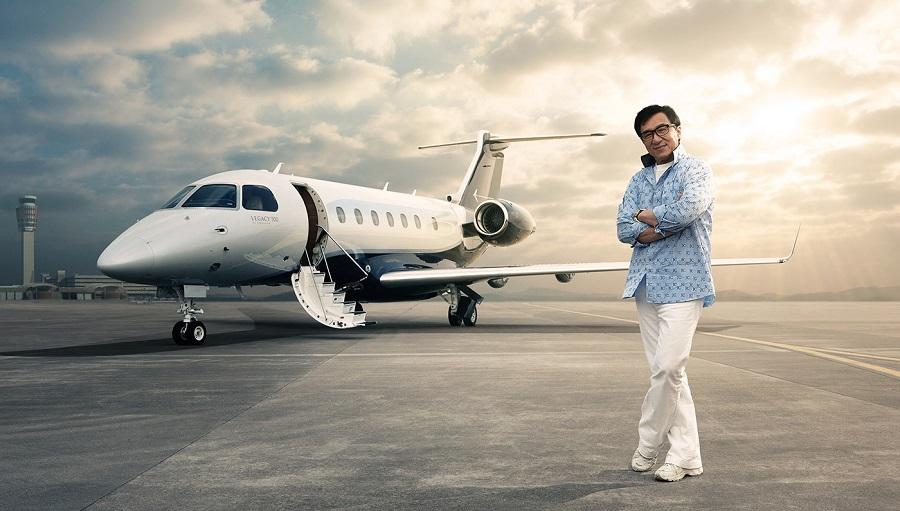 Embraer Legacy 500: Entra al ultra lujoso y moderno avión privado de Jackie Chan