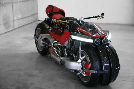 Lazareth LM 847: Una mega potente moto de 4-ruedas y !470HP¡  alimentada por un motor Maserati V8