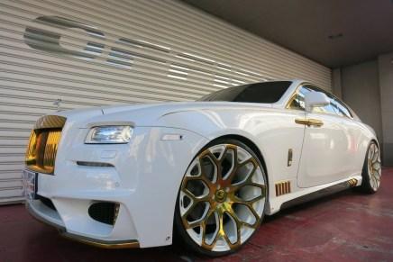 ¿Modificación o destrucción? Rolls-Royce Wraith en blanco y ORO por Office-K