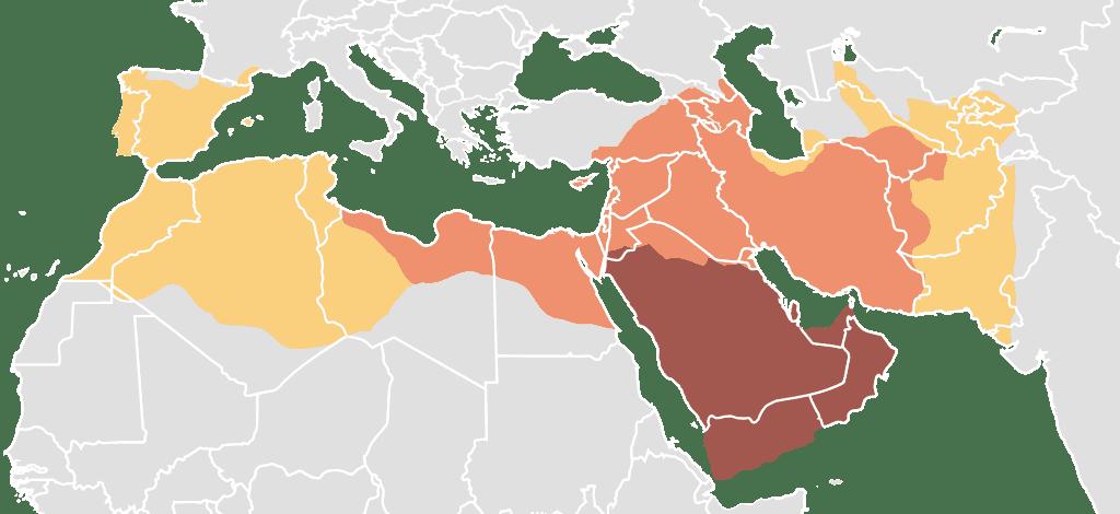 Mapa del Califato Rashidun