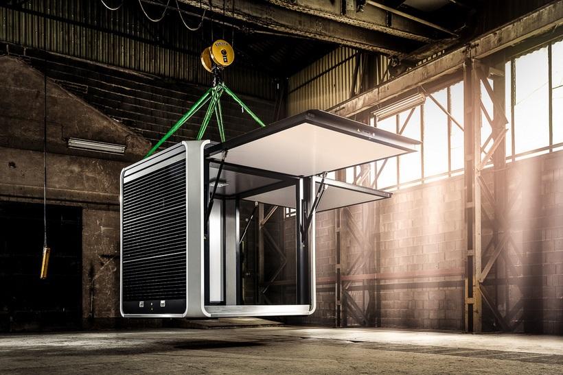 El CUBOX Solar Es Un Moderno Y Elegante Pabellón De Energía