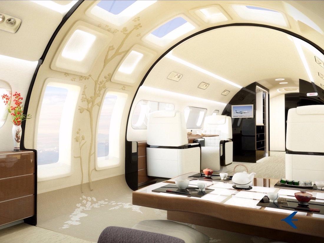 Embraer presenta un revolucionario diseño interior para sus jets privados nunca antes visto