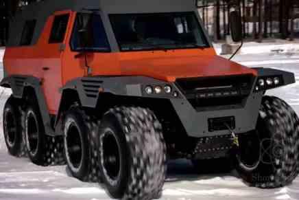 Conoce el vehículo todoterreno AVTOROS Shaman 8×8 ¡Hecho en Rusia!