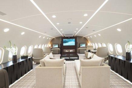 Opulentos comedores, cocinas y salas: Echa un vistazo al lujoso interior de uno de los JUMBO privados más personalizados del mundo