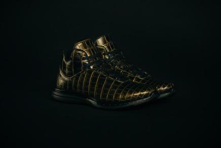APL presenta unas zapatillas deportivas de piel de cocodrilo bañadas en oro de 24 quilates
