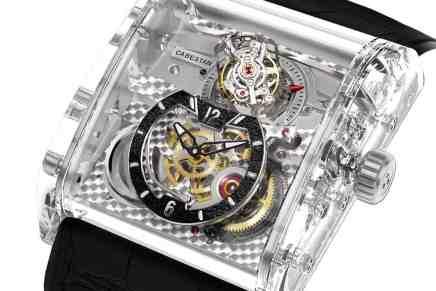 Cabestan Triple Axis Tourbillon Full Sapphire: Un reloj hecho completamente de ZAFIRO