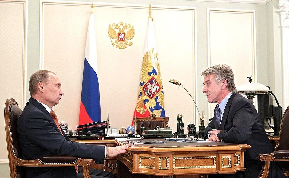 Putin y Leonid Mikhelson