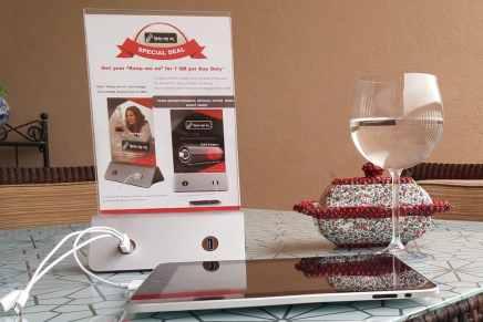 Cargadores de móviles para restaurantes, una idea para la hostelería