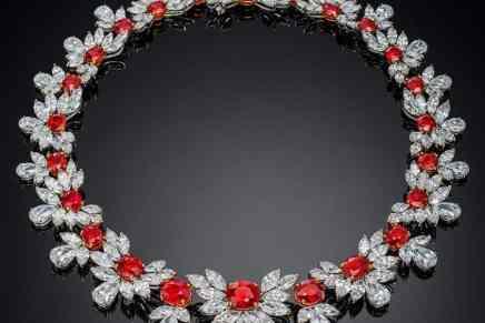 Este espectacular collar de rubí y diamantes de $35M está listo para ser obsequiado a una elegante y afortunada princesa