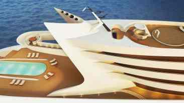 L'Amage: Este futurista concepto de 190 metros de eslora podría convertirse en el mega yate más largo del mundo