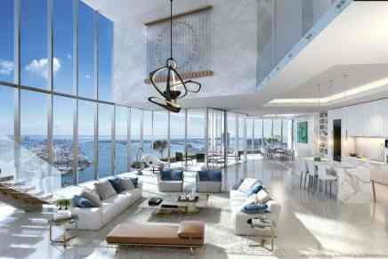 """Paramount Miami WorldCenter, el gigantesco proyecto en la """"Ciudad del Sol"""" pone ahora un ultra exclusivo penthouse a la venta por $9,5 millones"""