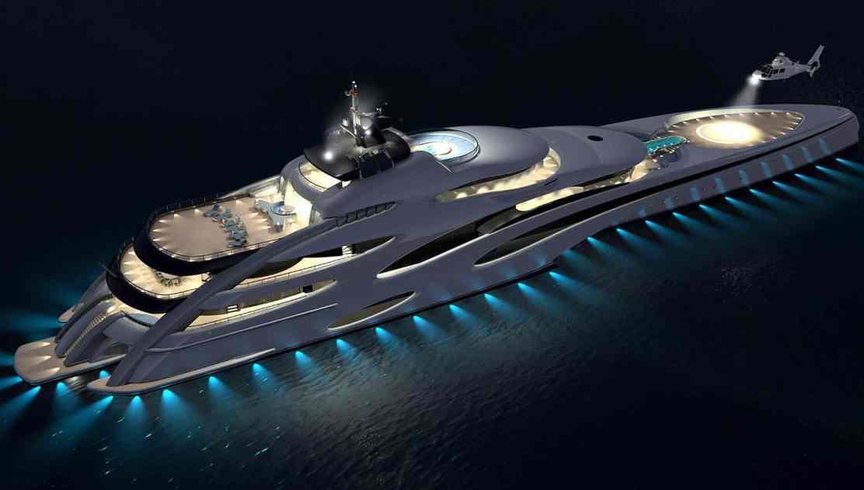 Otro mega increíble concepto Trimarán por Echo Yachts