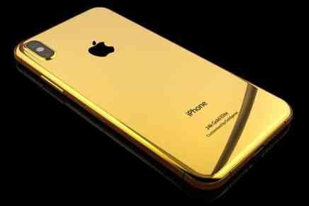 ¿No puedes esperar por tener un iPhone 8? Haz un pre-pedido de un iPhone 8 de oro de 24 quilates con incrustaciones de diamantes