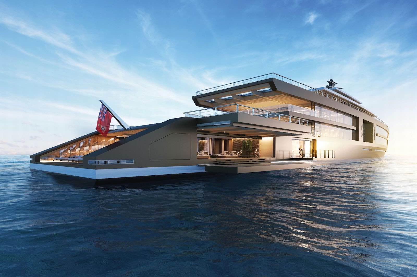 Nature, un mega espectacular GIGAYATE de 120m, completo con cabinas VIP, gimnasio, piscina y jardín climatizado