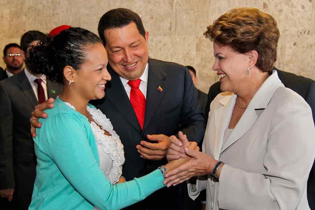 Hugo Chávez y su hija Rosa Virginia Chávez