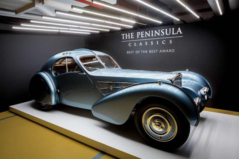 "Bugatti Type 57SC Coupé Atlantic 1936 gana la tercera edición anual de The Peninsula Classic ""Best of the Best"" Award"