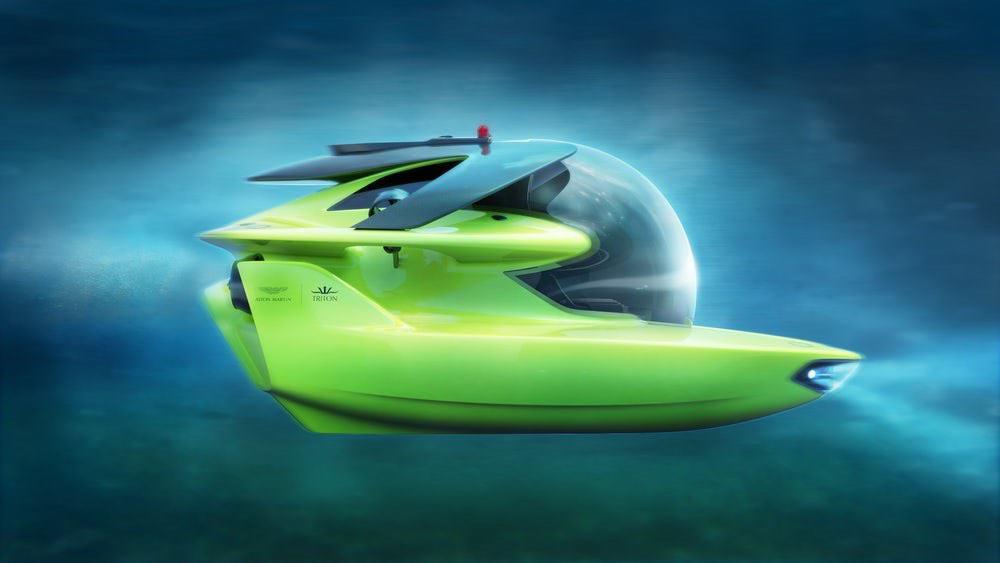 El elegante y lujoso submarino Aston Martin entra en producción