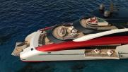 M60 SeaFalcon: Mondomarine presenta este súper yate concepto