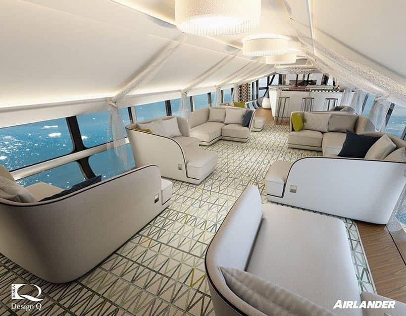 Así de lujoso es el interior del Airlander 10, la aeronave más grande y lujosa del mundo