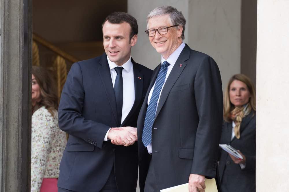 Bill Gates y Emmanuel Macron