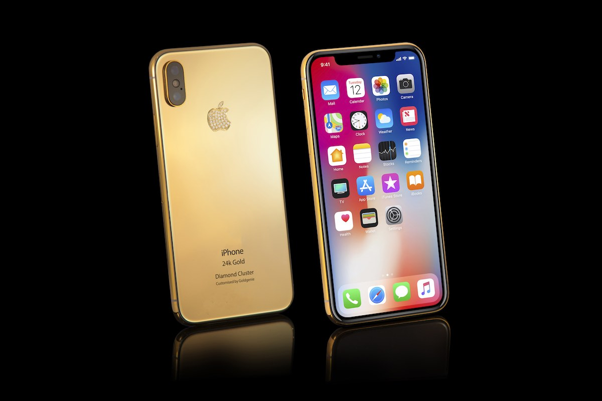 iPhone Xs Diamond Cluster (5.8″) – 24K Gold Edition