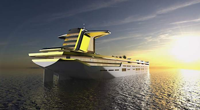 Imāra, convertirán este gigantesco buque petrolero en un ultra lujoso mega yate