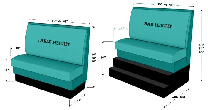 average height of a sofa seat modern sectional sofas dallas restaurant booth dimensions | seating & banquette ...