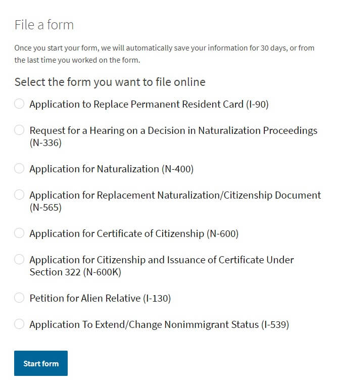 llenar formulario I-130
