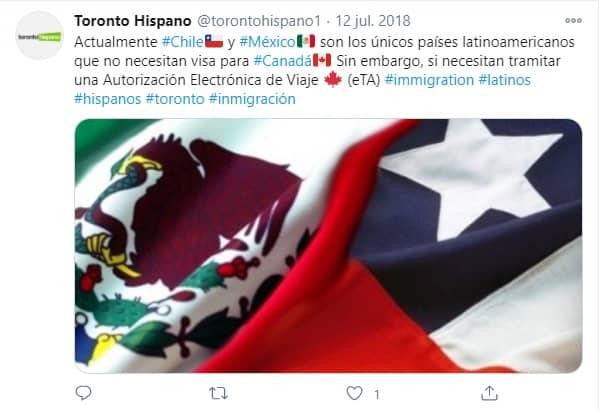 Visa de Canada para Latinos