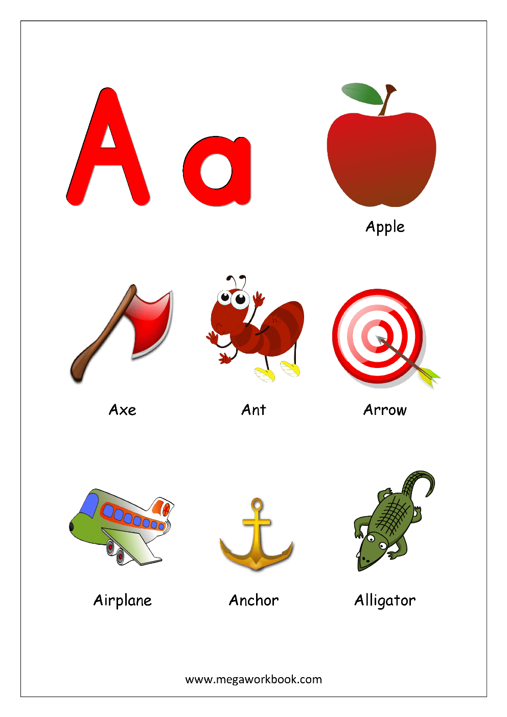 Pictures Of Things That Start With The Letter A : pictures, things, start, letter, Things, Start, Letter, Alphabet, Chart, Objects, Beginning, Alphabets, Pictures, MegaWorkbook
