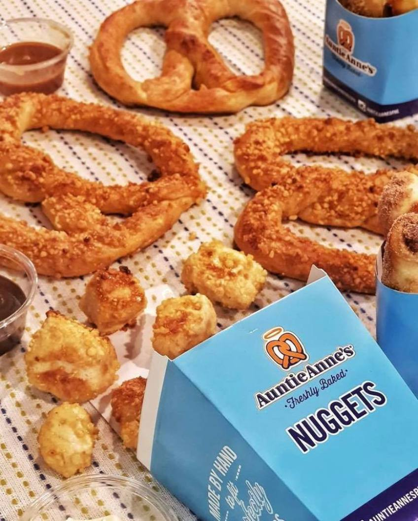 Almond Pretzels and Nuggets from Auntie Anne's
