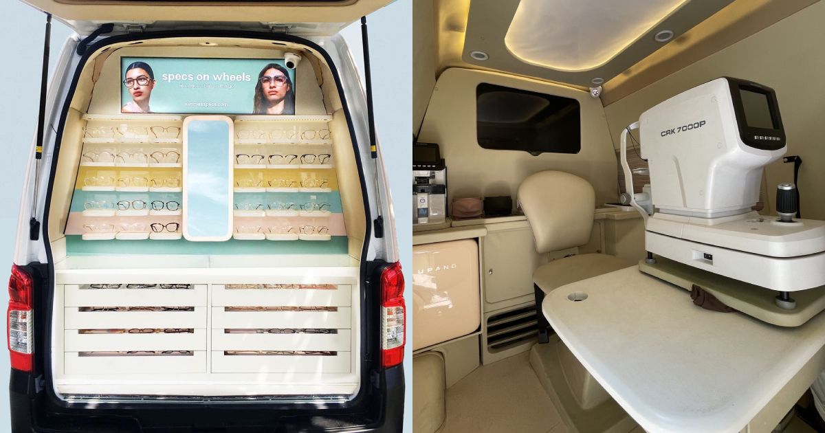 Book her an appointment at Sunnies Studios' Specs-On-Wheels and have her checked from home.