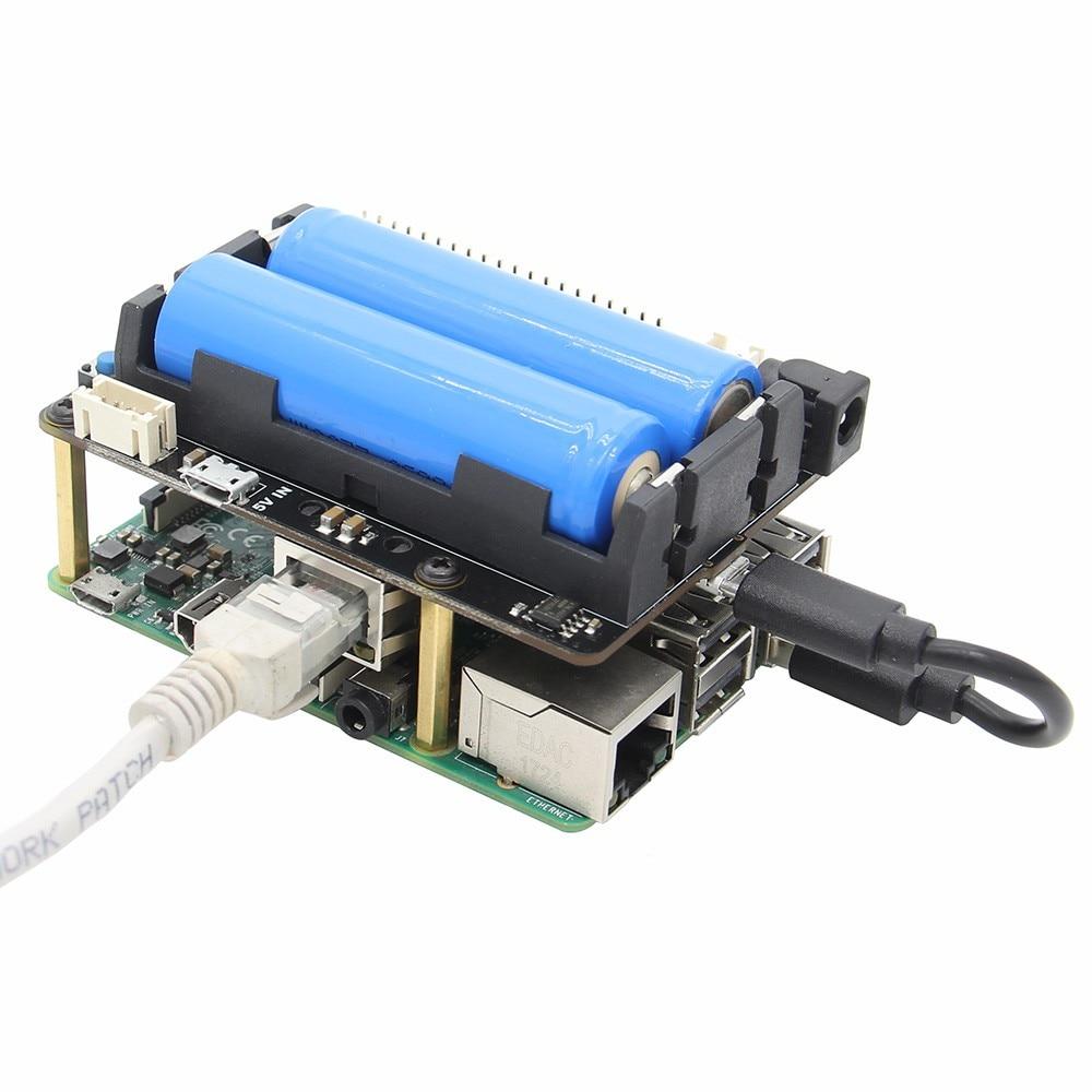 Raspberry Pi X720 UPS HAT (18650 Power)+Safe Shutdown+Wake on Lan+RTC Power  Management Expansion Board for Raspberry Pi 3 B+/3B