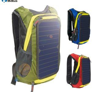 6W 6V Green/Red/Blue Solar Panel Backpack Men Women Battery Power USB Charger for Phone laptop Outdo...