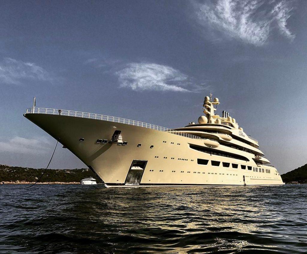 dilbar largest super yacht