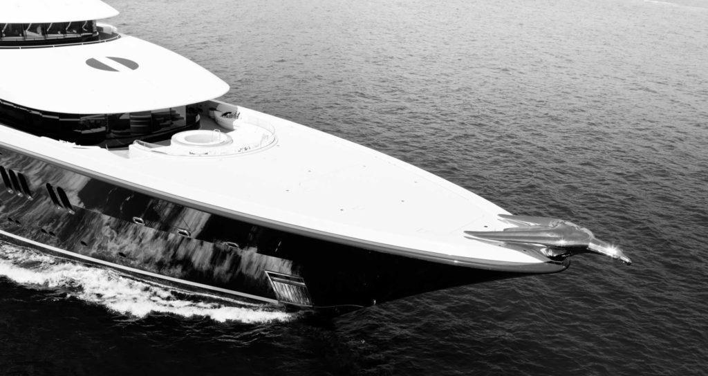 black and white Phoenix yacht