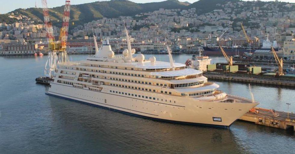 fulk al salamah docked, large luxury boat docked in port