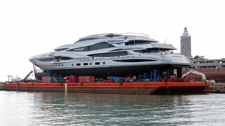 New Lionheart Launched Benettis Biggest Boat Megayacht