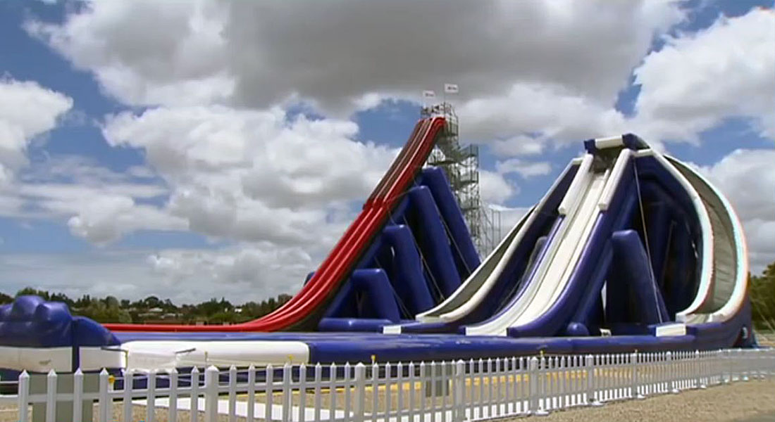 Holy Cow FreeStyle Slides Makes Worlds Tallest