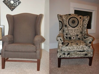 How to reupholster a wingback chair  DIY Projectaholic